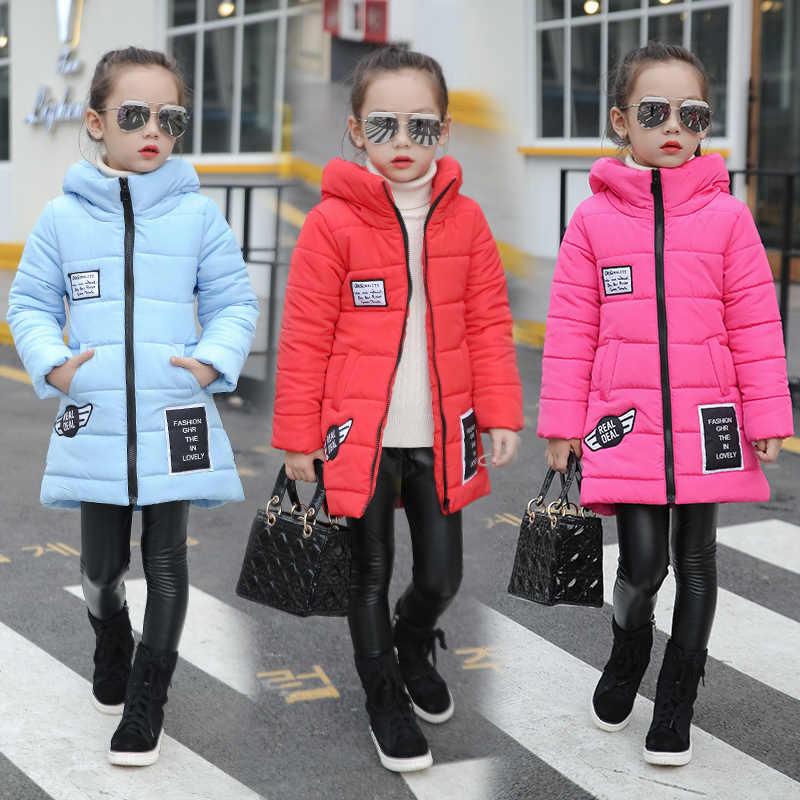 2019 Girls child wadded jacket outerwear medium-long cotton-padded jacket thickening children's clothing winter girls coat