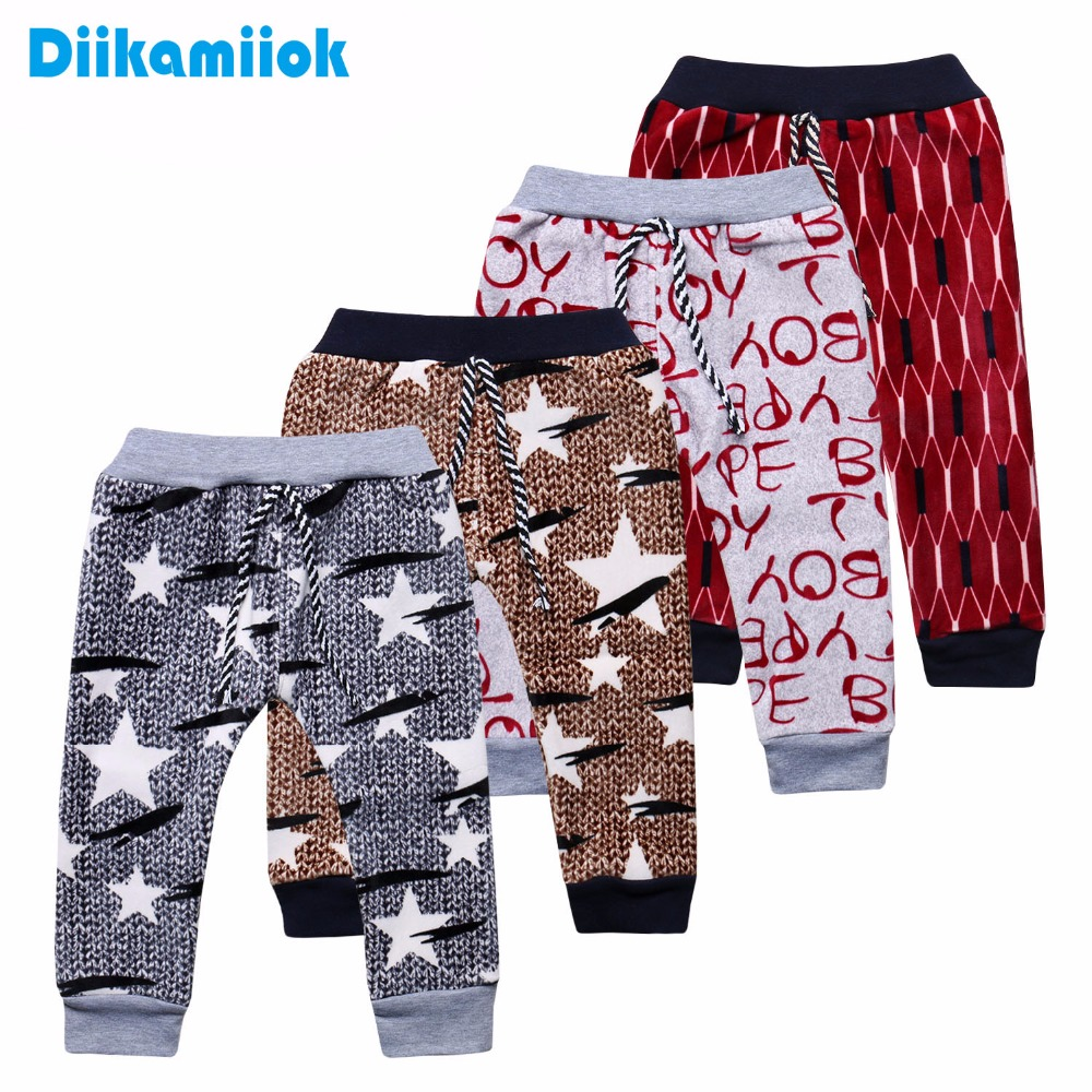 New Casual children clothing baby boys thermal pants for kids 0-24 month baby girls plus velvet warm trousers autumn and winter