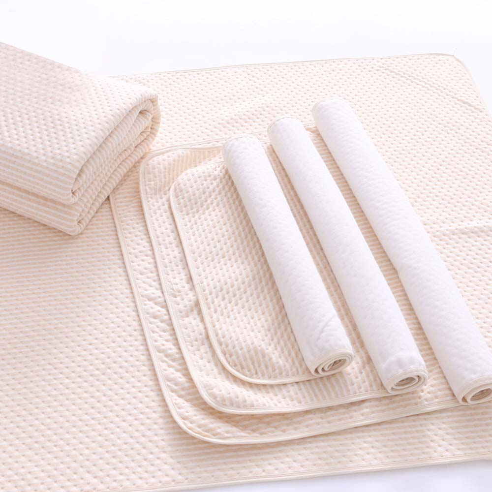 Durable Umbrella Urine Pad Organic Colored Cotton Breathable Newborn Mattress Waterproof Baby Mat Urine Pad Bed Mattress image