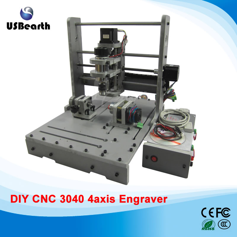 Best choice LY DIY 3040 4 axis mini CNC router engrave machine cnc 5axis a aixs rotary axis t chuck type for cnc router cnc milling machine best quality