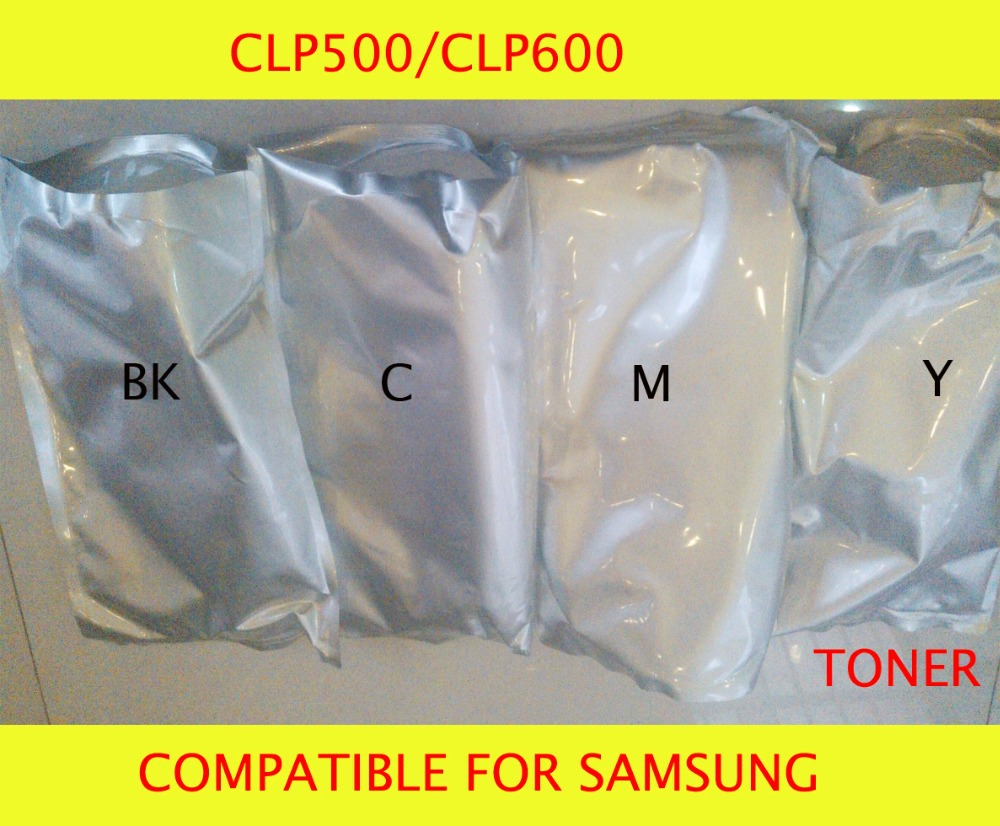 Fast Delivery Compatible for samsung CLP500/CLP600 Chemical Color Toner Powder Free Shipping