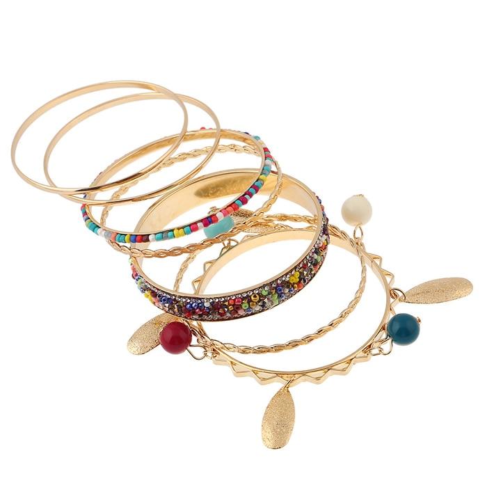 Boho charms tribal ethnic bangle tassel bracelet & bangles