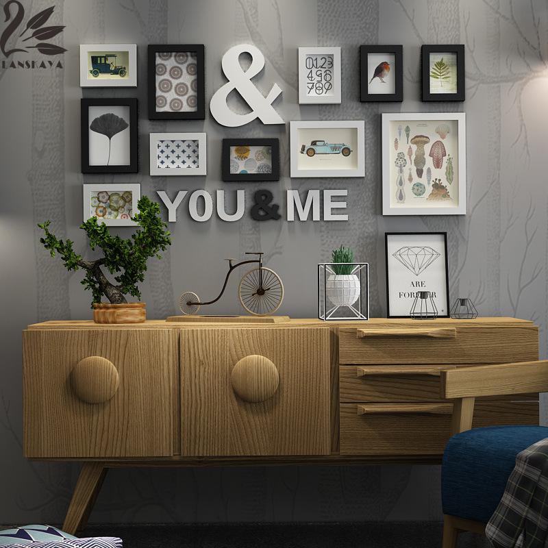 lanskaya natsu celio de madera maciza marco de fotos combinacin pared de la familia marcos de