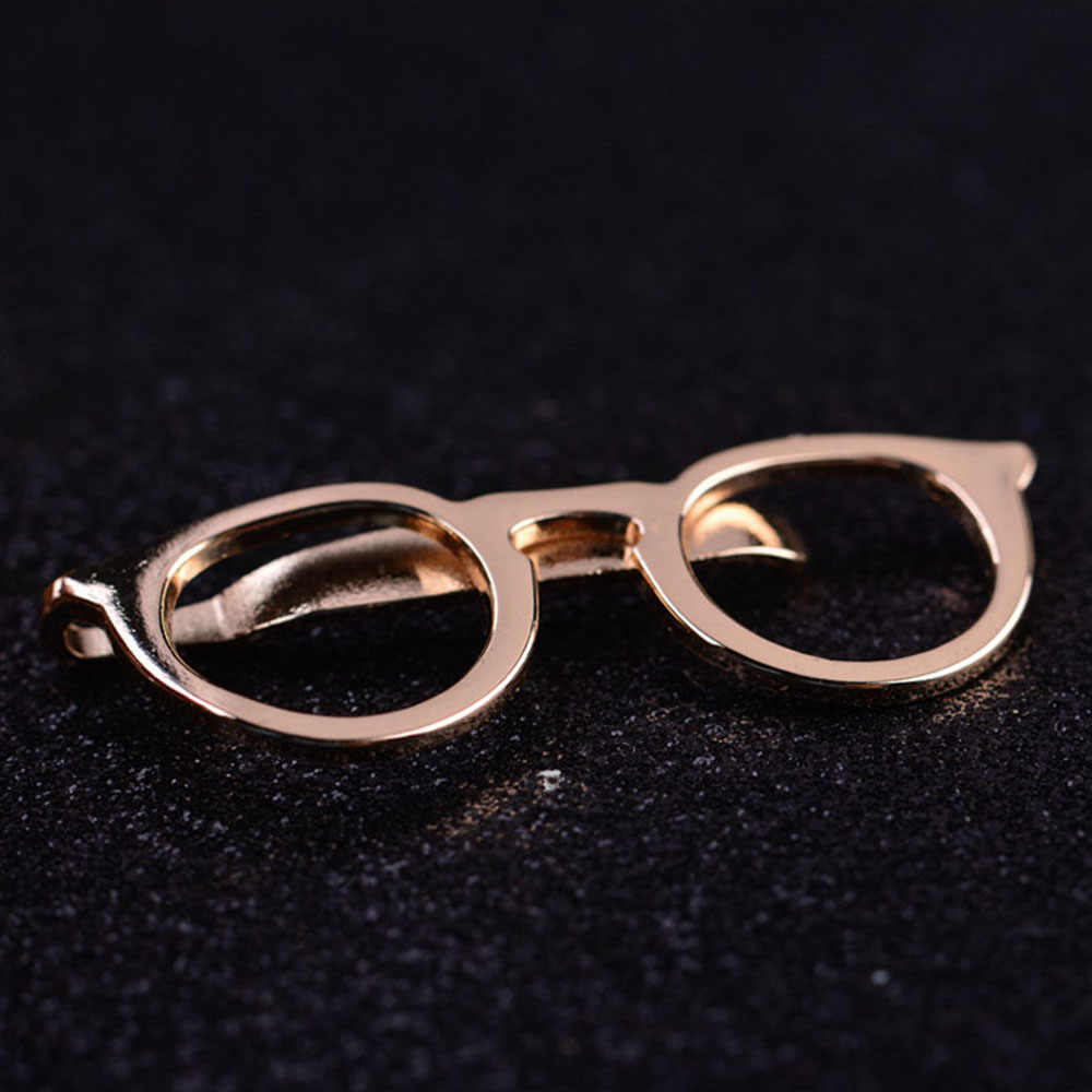 fa11b0aff6 ... 1 Pcs Formal Exquisite Business Alloy Gold Glasses Shape Men Suits Necktie  Clips Tie Bar Clasp ...