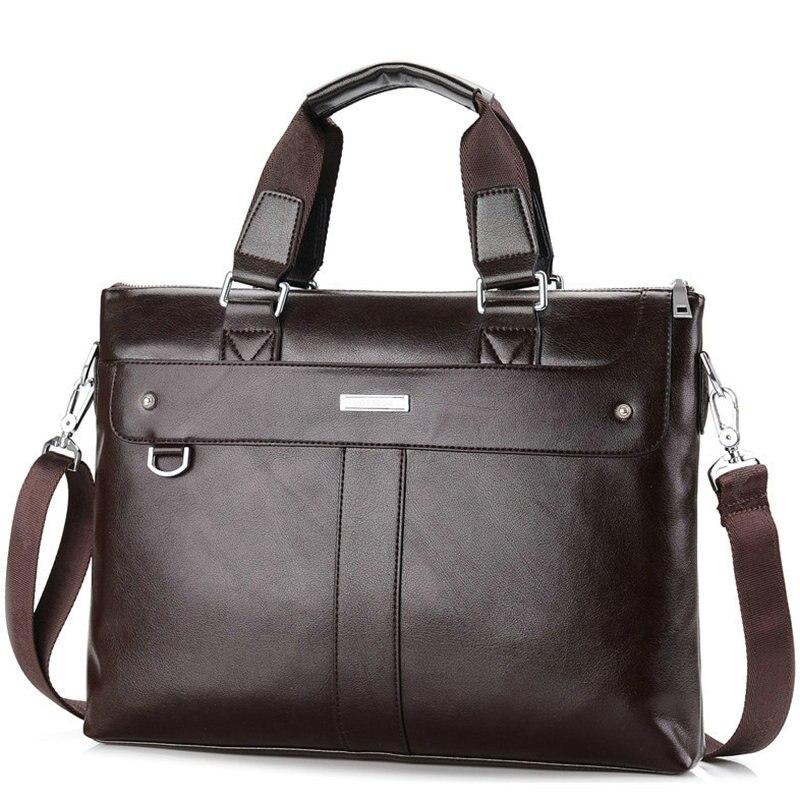 Top ventes célèbre marque d'affaires porte-documents pour homme en cuir pochette d'ordinateur décontracté homme sac sacs à bandoulière