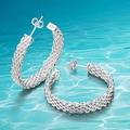 Горячий стиль! Стерлингового серебра 925 круглый дамская уха темы серьги ; 925 подлинная твердых чистого серебра ювелирные изделия ;