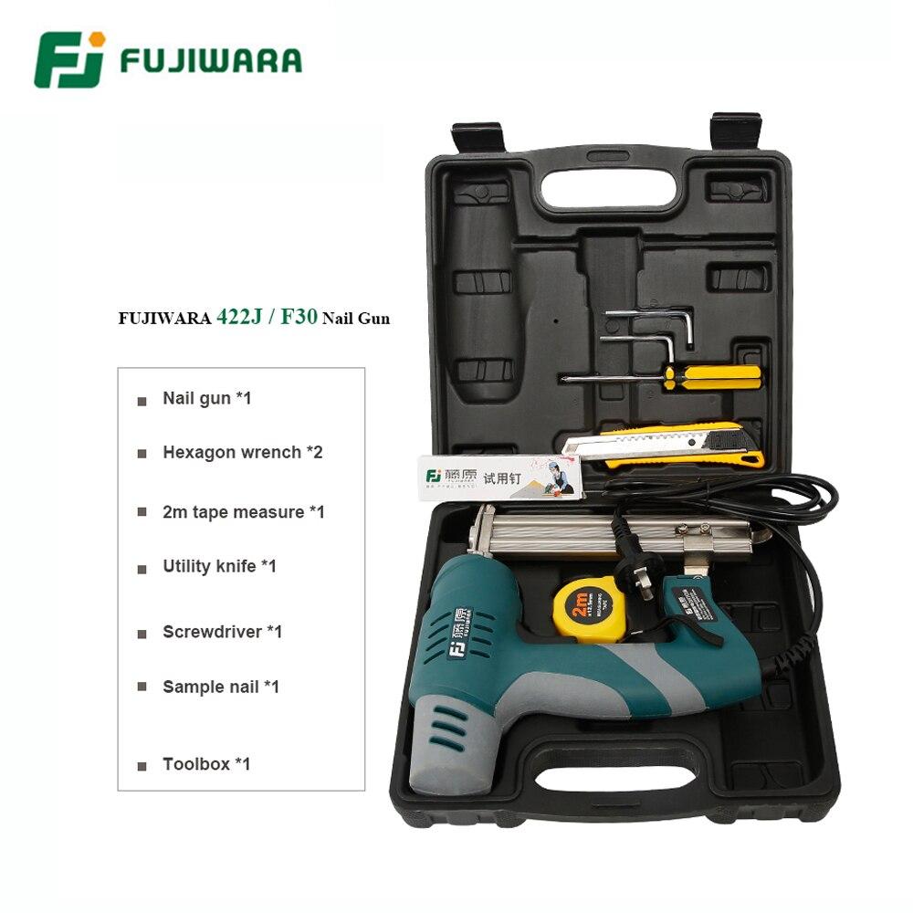 Gun F30 Single Double S Straight FUJIWARA 422J Use Woodworking Gun Nails Electric Tools Nail Stapler Nail Nail Use