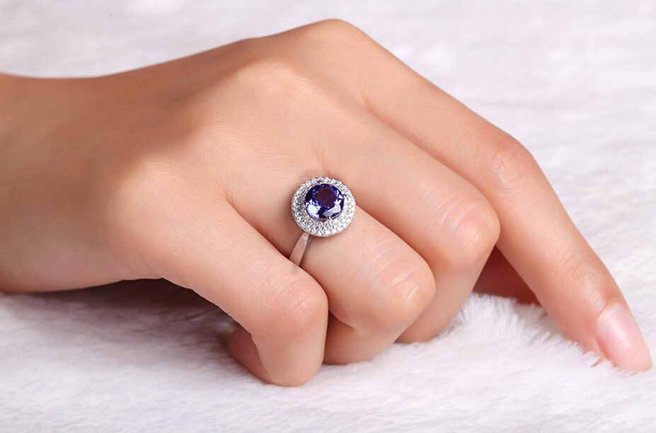 ring thai with blue earring aaa carat white quality hoop sapphire diamond gold prouctdetail halo in