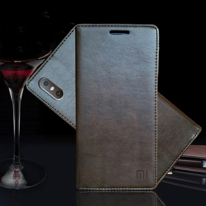 Pour Xiao mi mi 8 cas de Luxe En Cuir Véritable Flip Cas Pour Xiao mi Mi 8 se magnétique livre portefeuille couverture pour Xaio mi mi 8 téléphone coque