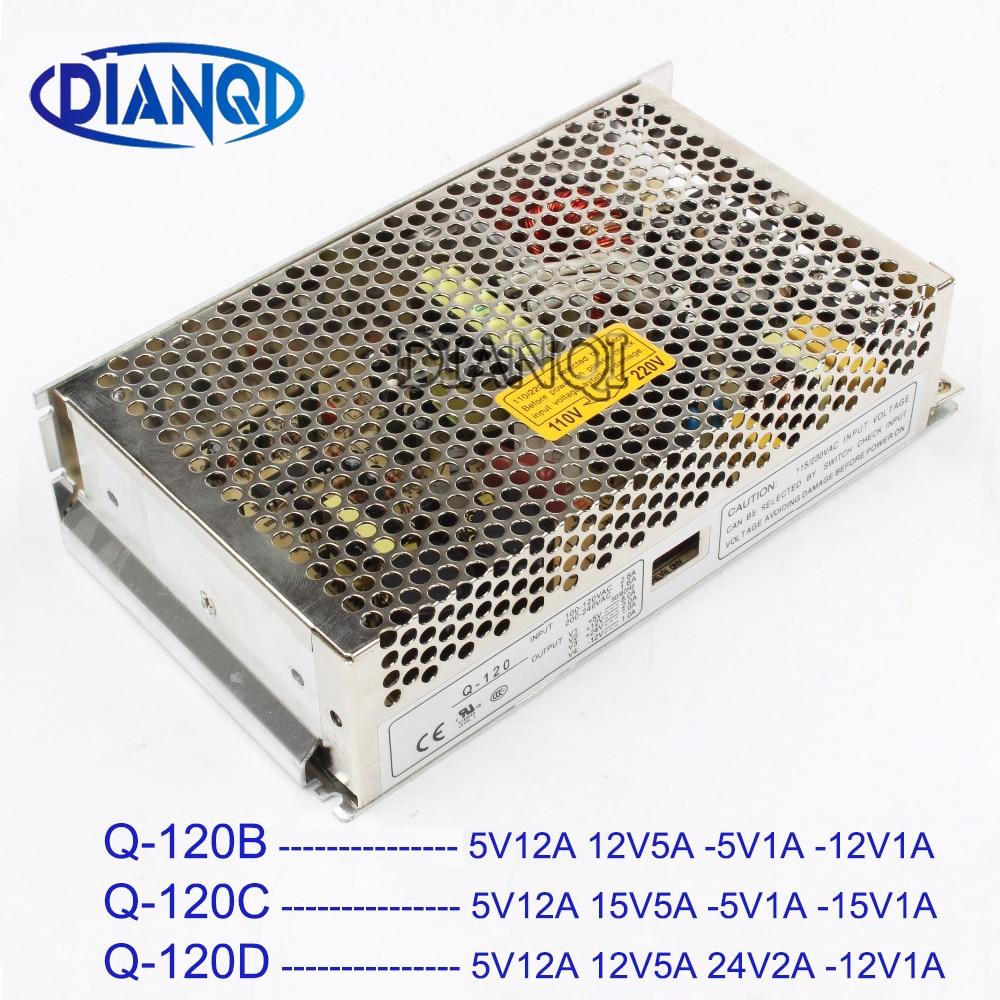 DIANQI Q-120D 5V 12V 24V -12V Quad output Switching power supply Q-120B 5V 12V -5V -12V ac dc converter Q-120C 5V 15V -5V -15VDIANQI Q-120D 5V 12V 24V -12V Quad output Switching power supply Q-120B 5V 12V -5V -12V ac dc converter Q-120C 5V 15V -5V -15V
