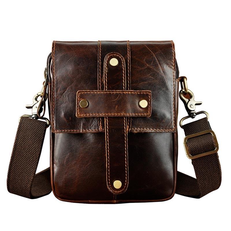 Brand 8' Belt Waist Pack Genuine Leather Casual Cross Body Shoulder Bag Men's small Messenger Bag For Cell Phone Wallet Camera все цены