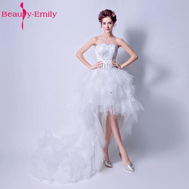 Sexy short white wedding dresses