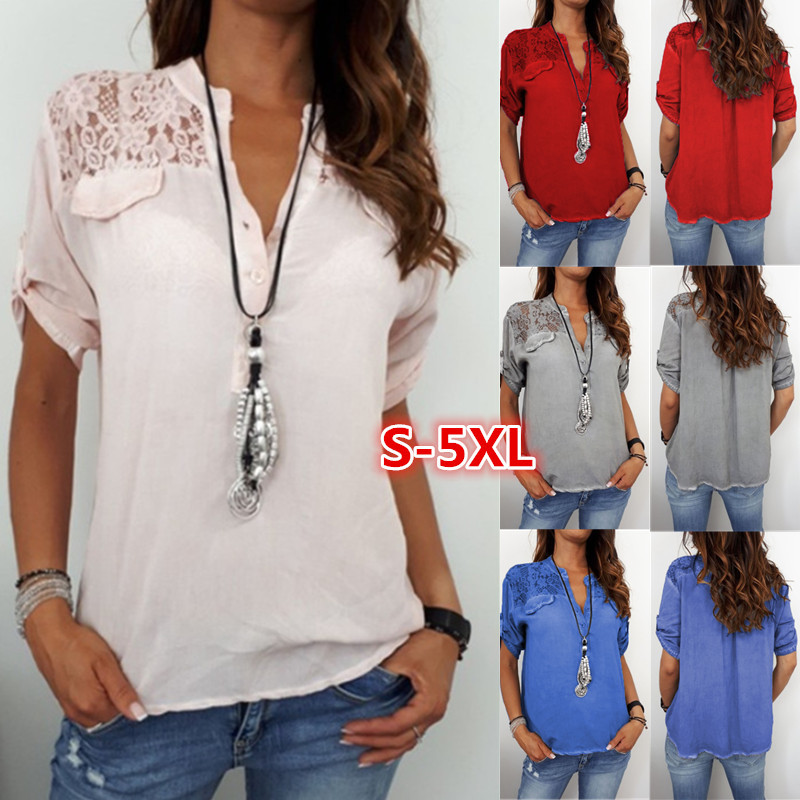 Spring Autumn Plus Size Blouse Women Lace Long Sleeve Shirt Woman Fashion Casual Tops Office Lady Clothing Europe Streetwear in Blouses amp Shirts from Women 39 s Clothing