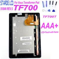 Voor Asus Transformer Pad TF700 TF700T Lcd Touch Screen Digitizer Glas Montage met frame TCP10D47 V0.1 5184N FPC-1