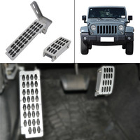 Car Inter Metal Solid Steel Adjustable heighten Foot Rest pedal Accelerator Pedal For Jeep Wrangler JK 2/4 Door 2007 2017 //