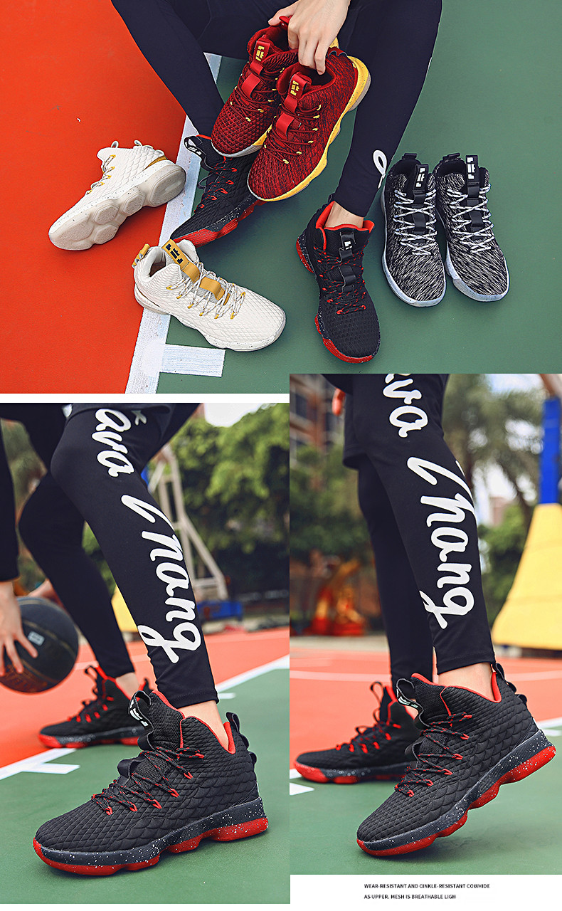 High-top Lebron Basketball Shoes Men Women Cushioning Breathable Basketball Sneakers Anti-skid Athletic Outdoor Man Sport Shoes (5)