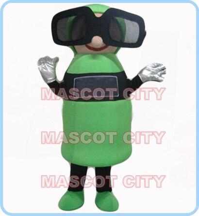 mascot cinema 3D glasses mascot costume adult size cartoon glasses theme anime cosplay costumes carnival fancy dress kits 2622