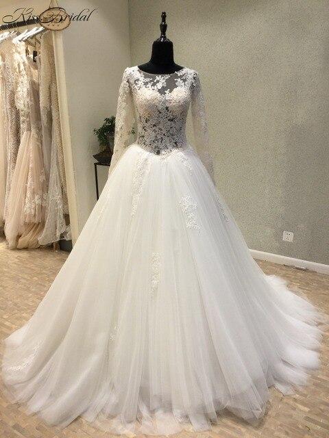 Vestido de casamento Neue Elegante Hochzeitskleid 2018 Scoop Langen ...