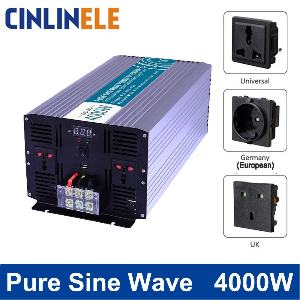 Smart Pure Sine Wave Inverter 4000W CLP4000A DC 12V 24V 48V to AC 110V 220V Smart Series Solar Power 4000W Surge Power 8000W 学前儿童心理与教育120问