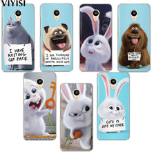 VIYISI For Meizu M6 5 Note Phone Case M5S 5C M3s 3Note Pro6 U10 U20 Rabbit Cover animal Coque Shell