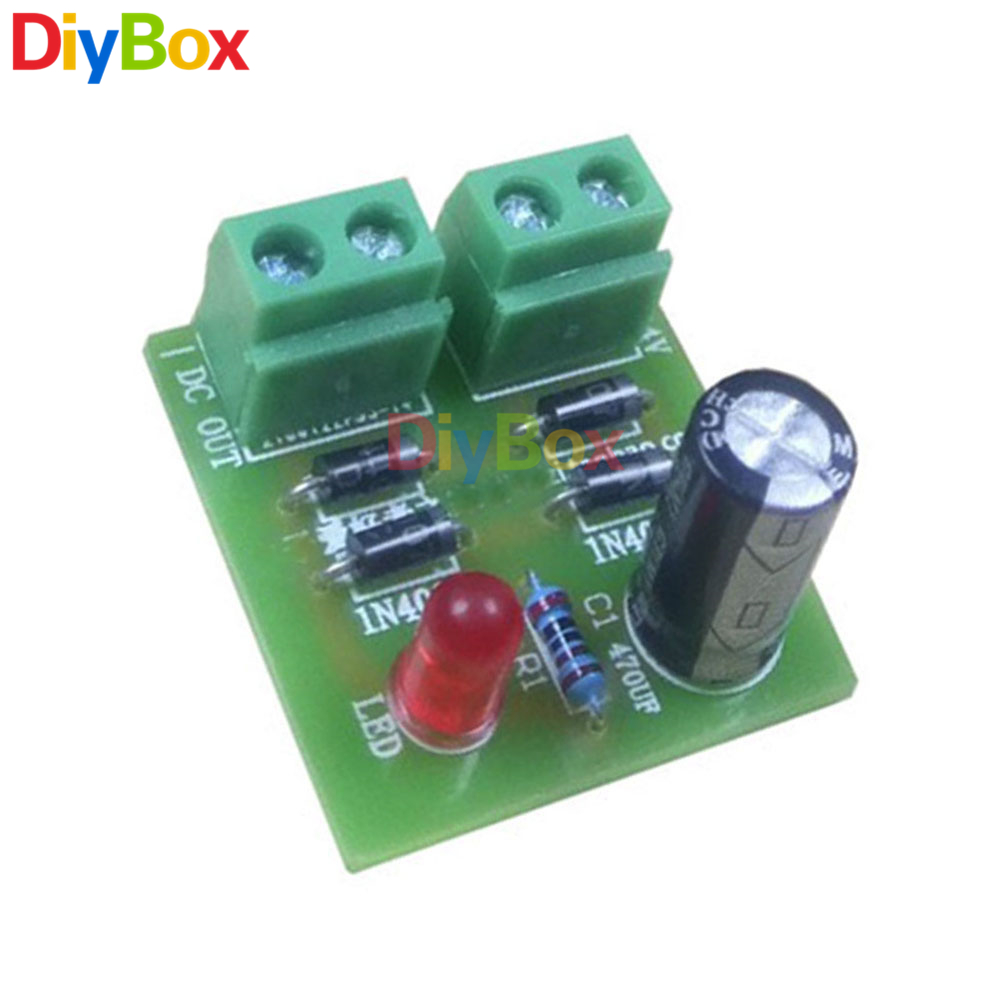 In4007 Full Wave Bridge Rectifier Diy Kits Ac Dc Converter Circuit Board Kit Parts Electronic Suite In Instrument Accessories