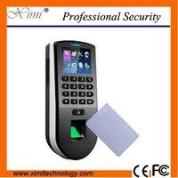 TFT ЖК дисплей дисплей время посещения оптический датчик 13.56 мГц карты высота безопасности устройства tcp/ip Linux контроля доступа по отпечаткам