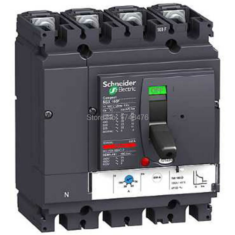 ФОТО NEW LV429860 circuit breaker Compact NSX100N - TMD - 100A - 4 poles 4d