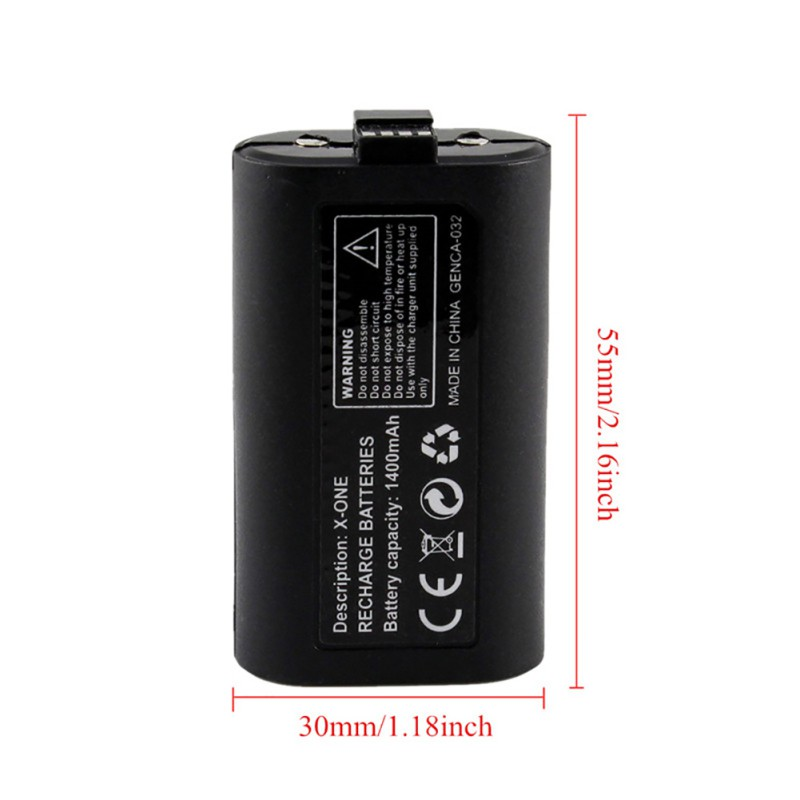 1400 mAh Backup Battery for XBox One Rechargeable Gamepad Battery With  Charge Cable Battery For XBOX One Controller