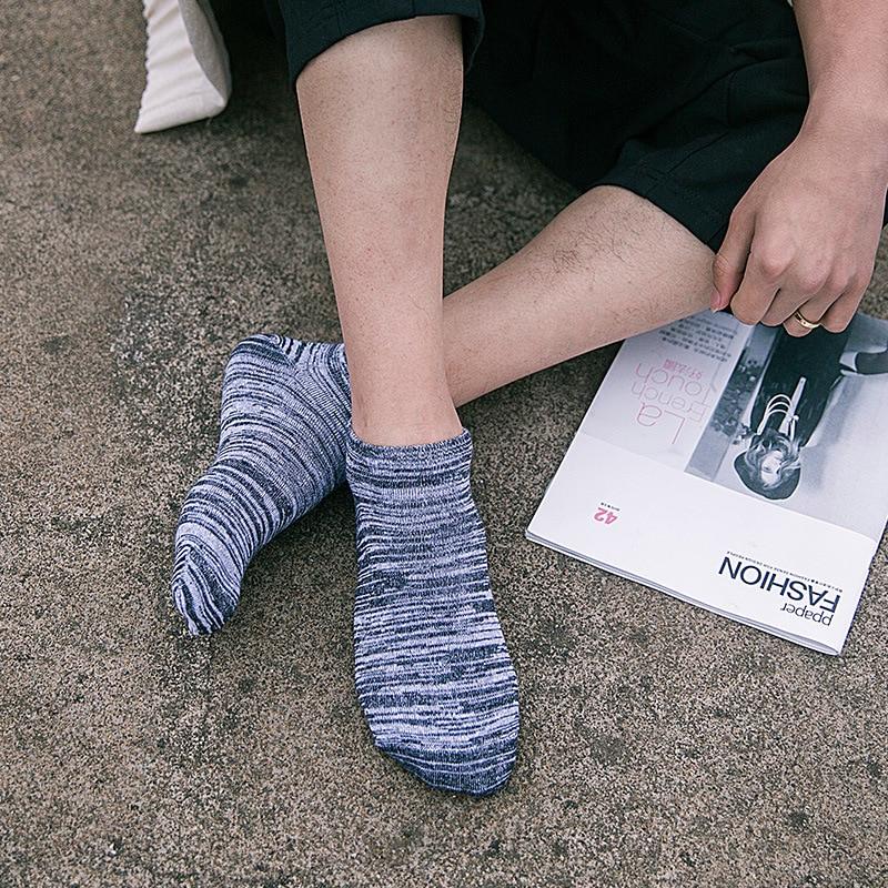5 Pairs/ lot Harajuku Mens Socks Cotton Casual Stripe Ankle Socks for Men Coolmax Breathable Low Short Socks Male Dress
