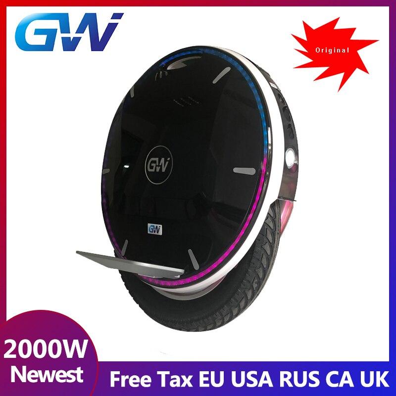 2019 version de mise à niveau Gotway Nikola 84 V 2100WH monocycle électrique monowheel 2000 W, autonomie 160-200 km, 55 km/h +, haut-parleur Bluetooth