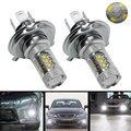 2X Branco 80 W H4 9003 HB2 LEVOU Luz de Nevoeiro Lâmpada 1000LM Hi/Lo feixe de DC12V 16 Chip Para Audi Buick Volvo Toyota de Alta Potência Livre grátis