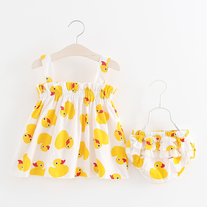 Summer Style Baby duck set Baby Girls Clothing Set Infant Ruffle Outfits Newborn toddler Girl Clothes Sets baby girl clothes sets infant clothing suits toddler girl birthday outfits tutu one year set baby product gift for newborn bebes