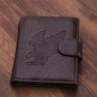 2016 الرجال محافظ سعر الدولار سستة قصيرة جلد طبيعي المحفظة محفظة مخلب فاخر مصمم حامل بطاقة الأعمال التجارية الصغيرة