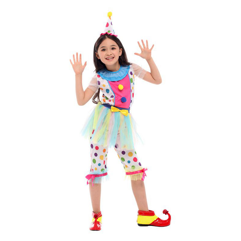Umorden Purim Carnival Halloween Clown Costumes Kids Children Circus Clown Costume Girls Fantasia Infantil Cosplay for Boys in Girls Costumes from Novelty Special Use