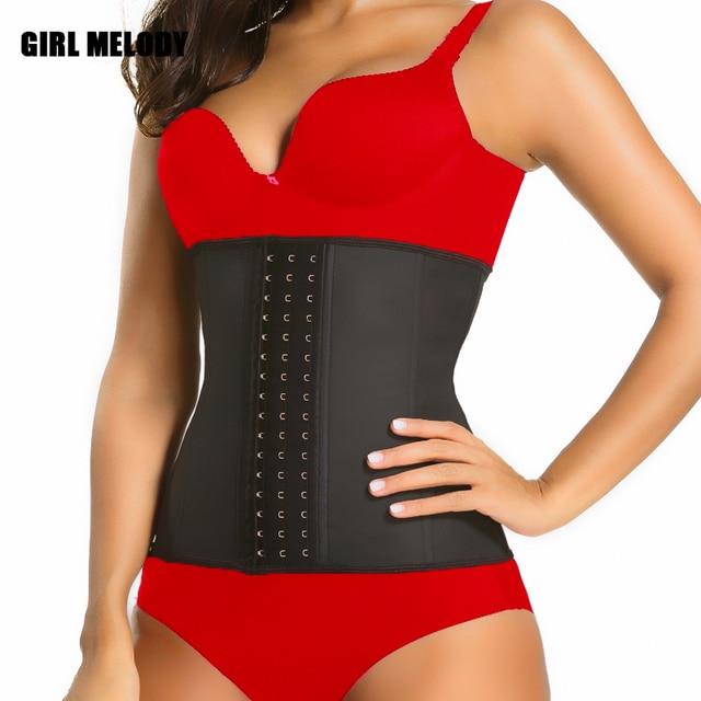 96a3b081f7 Women Corset Latex Waist Trainer Shapers Lose Waist Cincher Tummy Slimming  Belt Underwear Hot Body Shaper Slim Waist Shapewear