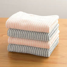 34x75cm 100% Cotton Striped Thick Soft Absorbent Drying Washcloth Home Bathroom Hand Towel For Adults недорого