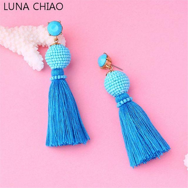 Luna Chiao mar encantador azul Cuentas Bola con DIP colorante seda ...