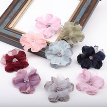 4PCS/Lot Hand Made Flowers Lace Fabric  Garment Accessories Trimmings DIY Sewing Supplies Fabrics 19522