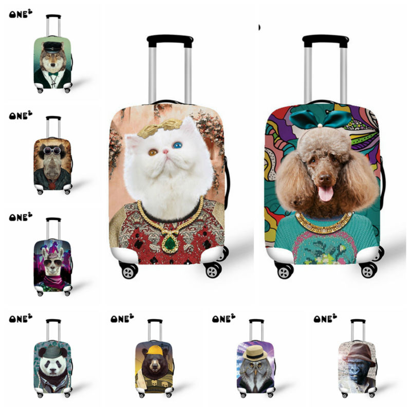 New 18,20,22,24,26,28,30inch Animal Cat/Dog Design Printing Travel Suitcase Luggage Protective Cover With Storage Bag  6 Colors