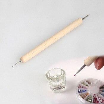 1 Uds 2-end Nail Art punteado bolígrafos herramienta para hacer puntos selector de diamantes MH88