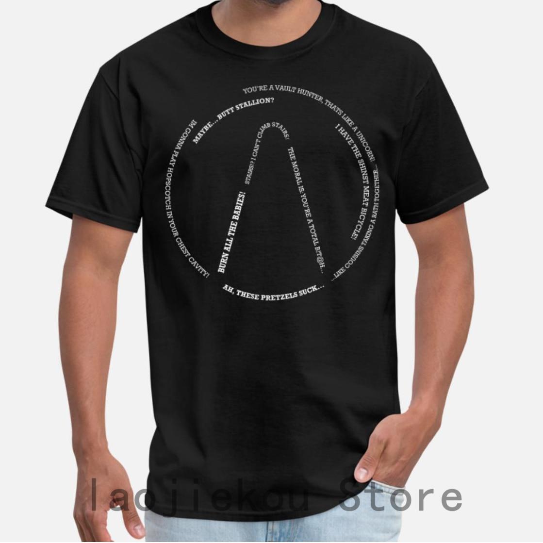 2019 Summer Funny Print Men T Shirt Women Cool T-Shirts Borderlands 2 Quotes Shirts Unisex New Fashion Tshirt