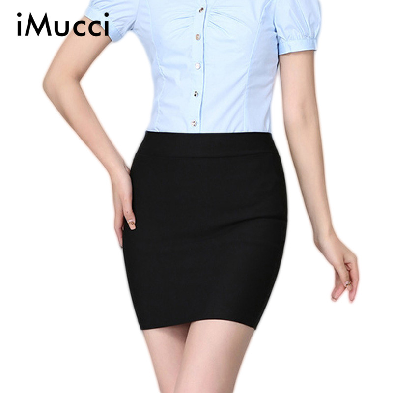 Imucci Spring Summer Women Skirt High Waist Pencil Skirts Elastic