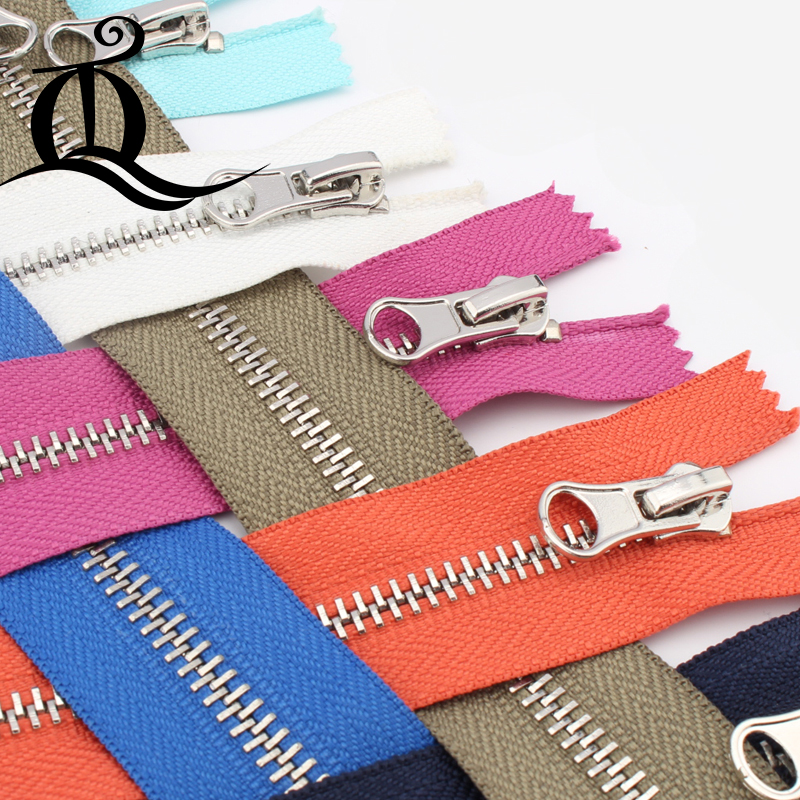 Close-End 15cm-45cm 5# 1pcs mix brand Metal Zipper for Sewing zip Garment Accessories Jeans Zippers Cremalleras DIY tools zipper