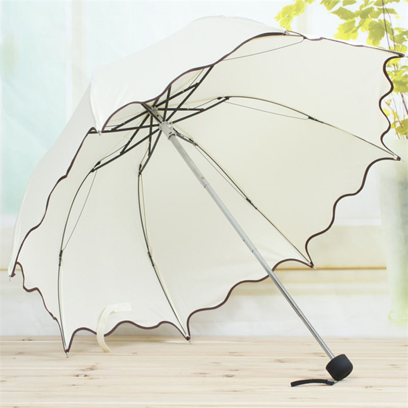 Nice 2018 Hot Sale Creative Frill Princess Umbrella Cute Pink Blue Various Colors Arched Umbrellas Folding Guarda Chuva Gift Usws35 Ample Supply And Prompt Delivery Furniture