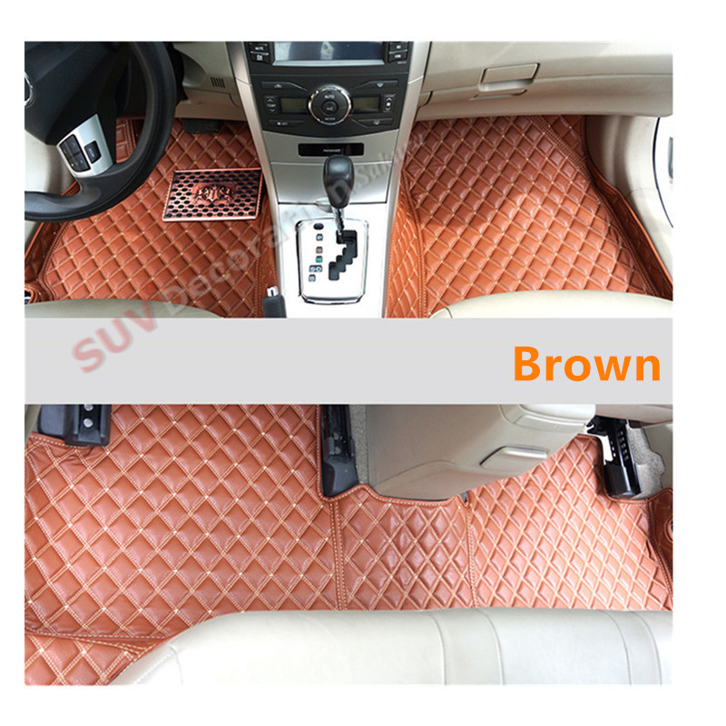 For Toyota Camry XV40 2007-2011 Accessories Interior Leather Carpets Cover Car Foot Mat Floor Pad 1set car interior rear cargo trunk mat pad 1set artificial leather for honda crv cr v 2017 2018 car accessories styling