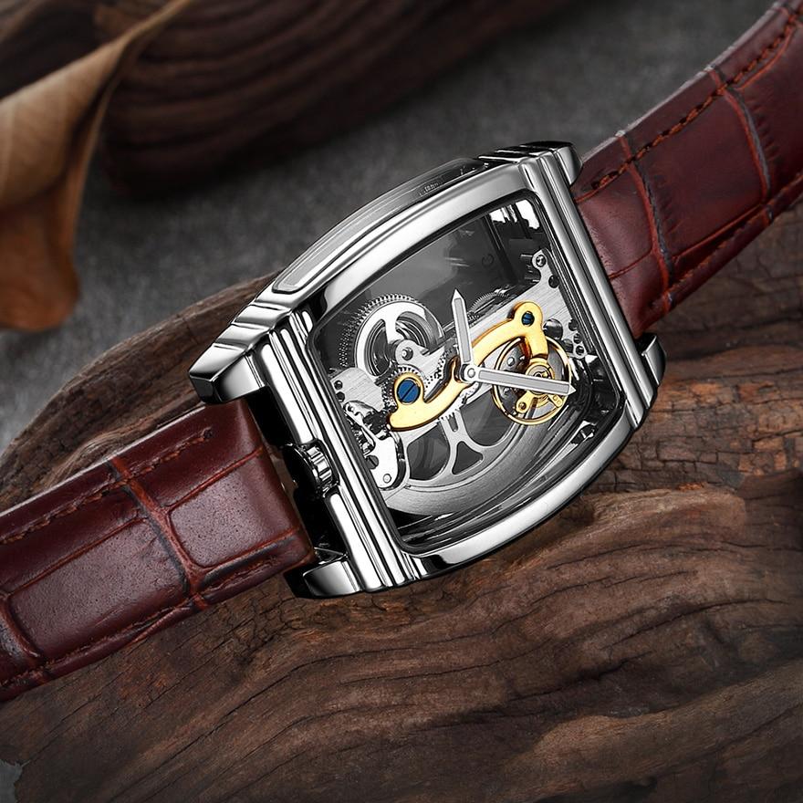 HTB1NNsMSCzqK1RjSZFjq6zlCFXac Transparent Automatic Mechanical Watch Men Steampunk Skeleton Luxury Gear Self Winding Leather Men's Clock Watches montre homme