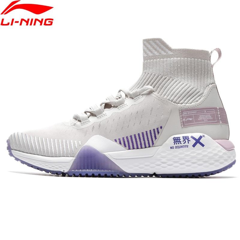 Li Ning Women NO BOUNDARIES Training Shoes Cushion Mono Yarn Breathable LiNing Cloud Sport Shoes Sneakers