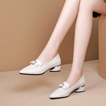 MLJUESE 2020 women pumps cow leather autumn spring bow-tied  black color high heels lady shoes party wedding size 34-42