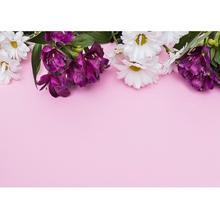 Виниловый фон для фотосъемки с розовой доской и цветами для фотостудии для детей, товары для детского душа, кремовый Фотофон