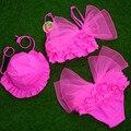 Ropas de bebé Niña Dulce Traje de Baño de la Playa Del Verano Del Bowknot y rufffles vestidos de Niño Del Bebé del traje de Baño de Dos Piezas de Ropa de Natación